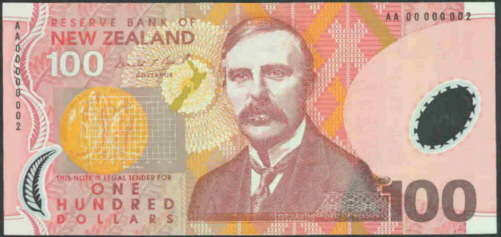 New Zealand 100 Polymer Bank Notes