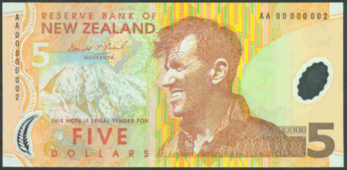 Combine FREE P 185 b New Zealand 5 Dollars P 185b 2005 UNC Polymer Low Shipping