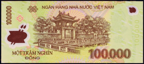 Viet Nam - P New - Back - 100000 Dong
